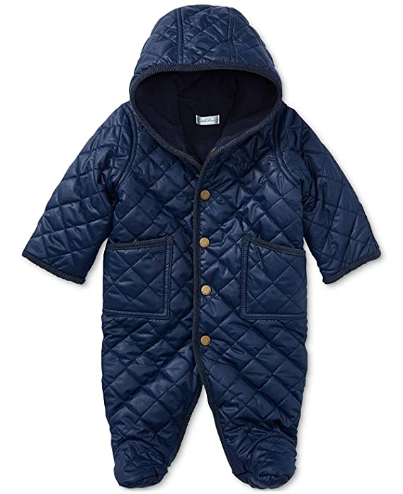 e27231f64 Amazon.com  Polo Ralph Lauren Baby Boys  Quilted Bunting Snowsuit ...