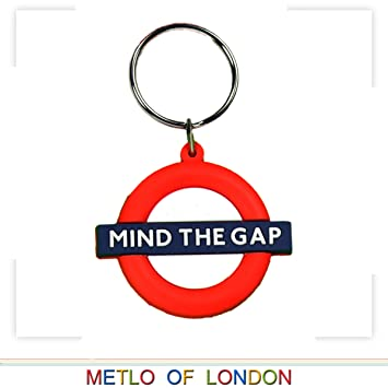 Metro de Londres Llavero de goma, Mind the Gap Roundel ...