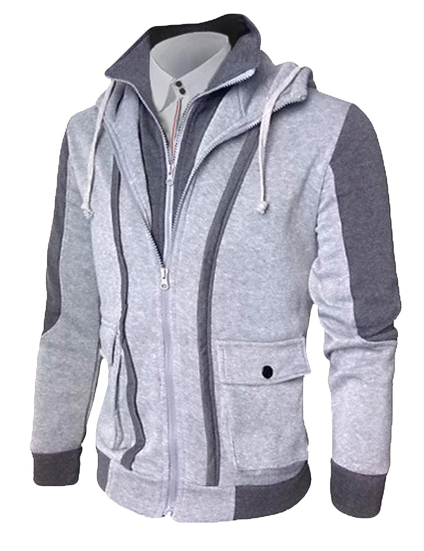 Jueshanzj Mens Full Zip Sweater Slim Fit Long Sleeve Fleeces Jackets ZTJSNC0421