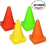 Reehut, cono stradale in plastica da 19,1 cm per allenamenti sportivi