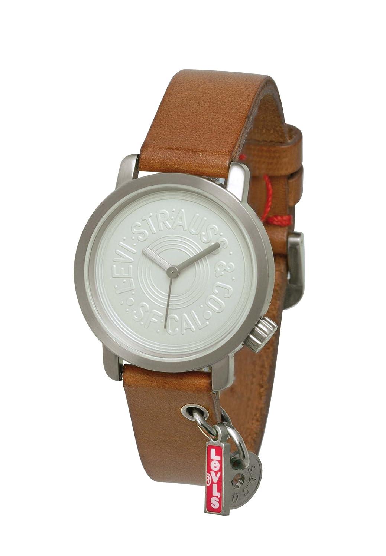 c76c23b2fadc Levis L028GI-1 - Reloj analógico de mujer de cuarzo con correa de piel  marrón - sumergible a 30 metros  Amazon.es  Relojes