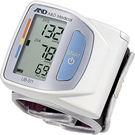 Tensiómetro electrónico de muñeca a & D ub511