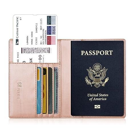 Fintie Porte-Passeport Housse - Voyage Protecteur Portefeuille Pochette étui  de Protection pour Passeport, 03ffe6579df