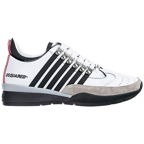 Dsquared2 251 Zapatillas Deportivas Hombre Bianco 42 EU: Amazon.es: Zapatos y complementos