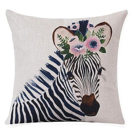 La almohada Illustrator animal algodón almohada cojín sofá ...