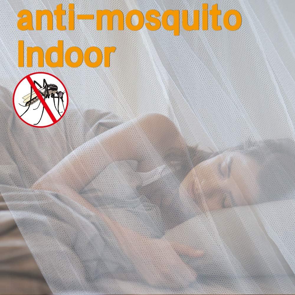 200/x 220/x 210/cm opamoo Mosquitera Grande Mosquitera Paper24/Redes antimosquitos para Cama Doble Mosca Red mosquitera Color Blanco