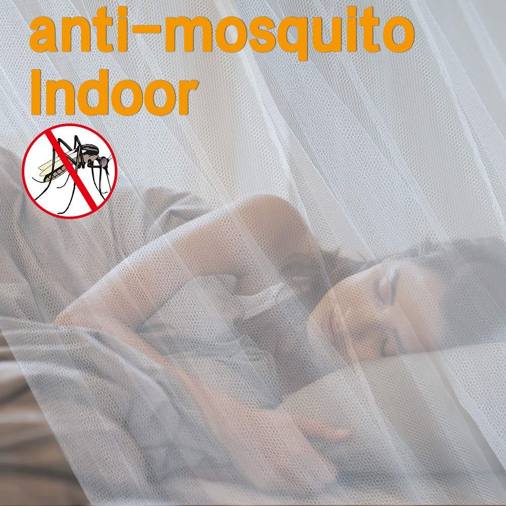 Color Blanco opamoo Mosquitera Grande Mosquitera Paper24/Redes antimosquitos para Cama Doble Mosca Red mosquitera 200/x 220/x 210/cm