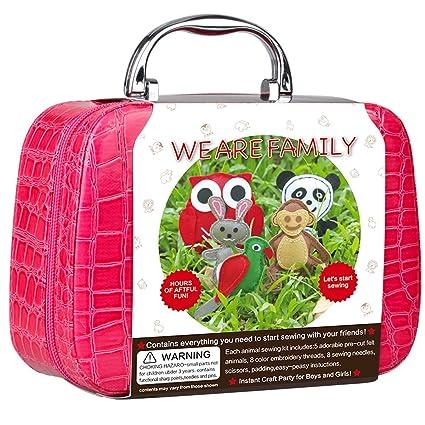 amazon com ohyeye sewing craft kit diy woodland animals craft