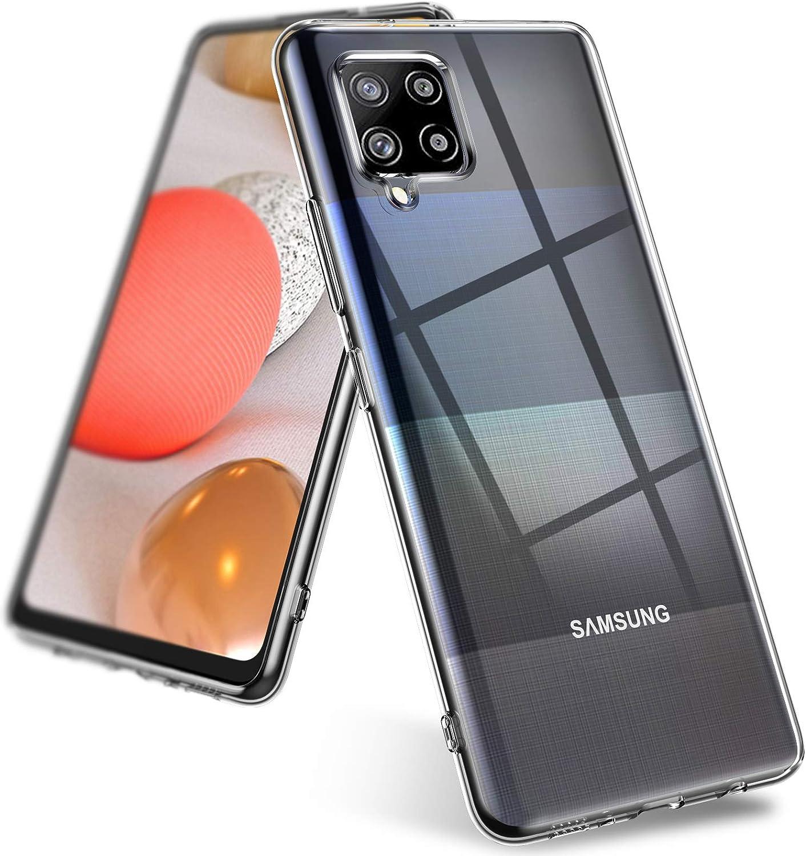 TOPOFU Funda Samsung Galaxy A42 5G Cierre Magn/ético Suave PU Cuero Carcasa con Flip Case Cover TPU Parachoques Funda para Samsung Galaxy A42 5G Tapa Soporte Plegable Azul