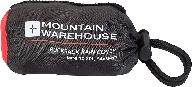 Couverture de Voyage r/ésistant /à la Pluie emball/ée dans Un Sac Mountain Warehouse Housse de Pluie pour Sac /à Dos 10-20L Cordon de Serrage Tissu Anti-d/échirure