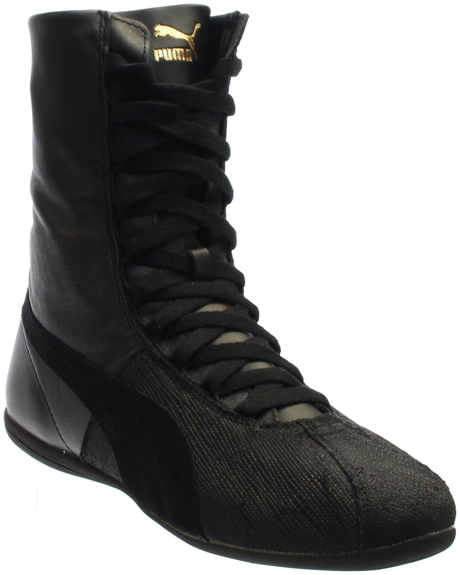 PUMA Women's Eskiva High Remaster Black Black Sneaker 8.5 B (M)