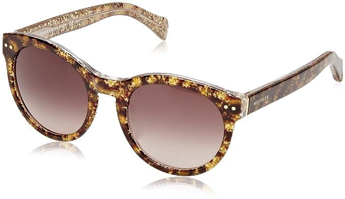 Tommy Hilfiger Unisex-Erwachsene Sonnenbrille TH 1291/N/S/Chr J6 Mehrfarbig (Hvna Glitter), 52