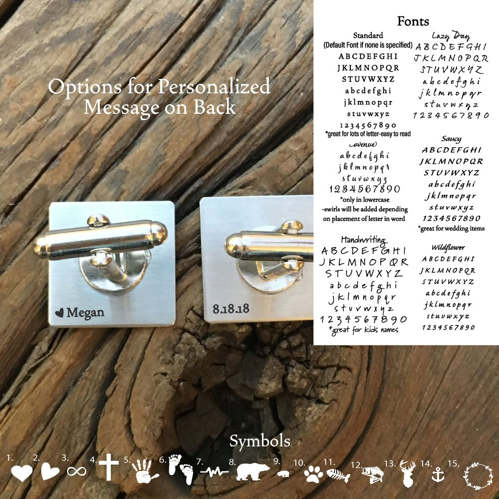 Personalized Gift for Groom from Bride on Wedding Day Husband Gift from Wife Anniversary Gift Birthday Gift Mens I Love You More Cufflinks