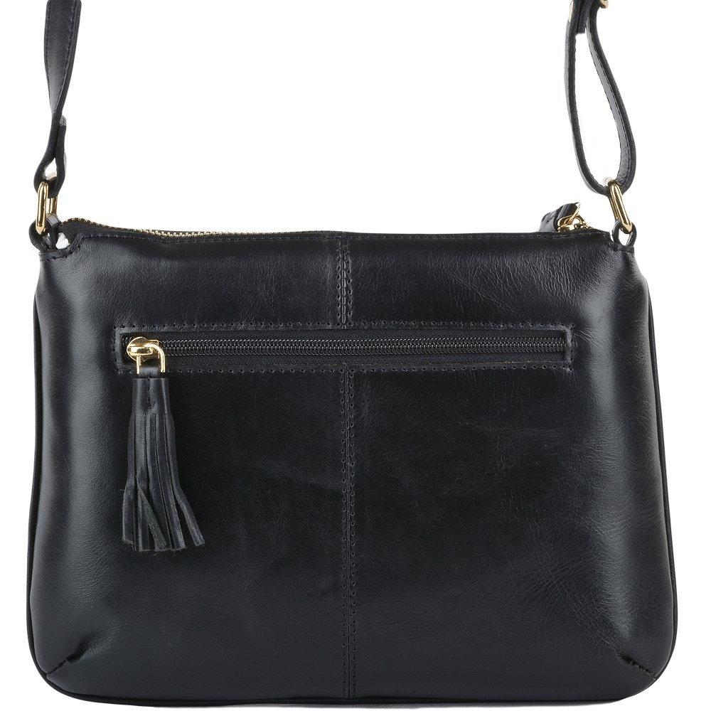 134a83975e5 Ashwood Womens Leather Small Cross Body Bag Black/vt : ELA 1261 NA:  Amazon.co.uk: Shoes & Bags