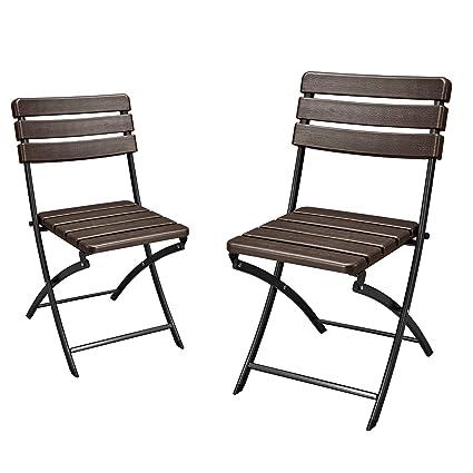 Astounding Amazon Com Adeco 2 Piece Folding Bistro Style Patio Chairs Bralicious Painted Fabric Chair Ideas Braliciousco