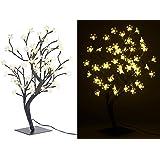 Lunartec Lichterbaum: LED-Baum mit 64 beleuchteten Blüten, 45 cm, IP44, für innen & außen (LED Lichterbäume)