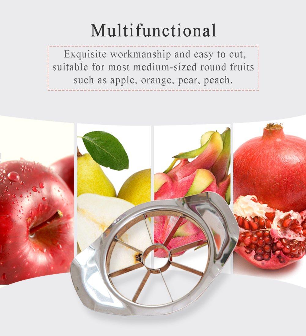 Cover Multifunctional Stainless Steel Apple Slicer Cutter HaloVa Apple Slicer Drivider for Apple Pear Orange Wedger