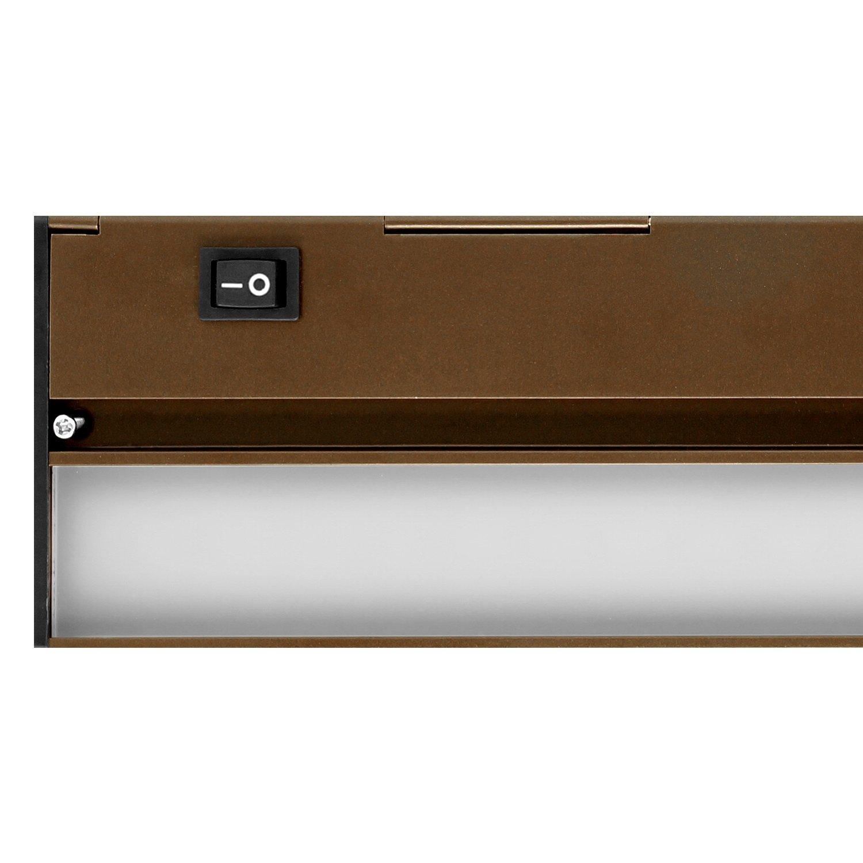 NUC-4-30-DM-W-WH White NICOR Lighting 30-Inch Slim Dimmable 2700K LED Under Cabinet Light Fixture