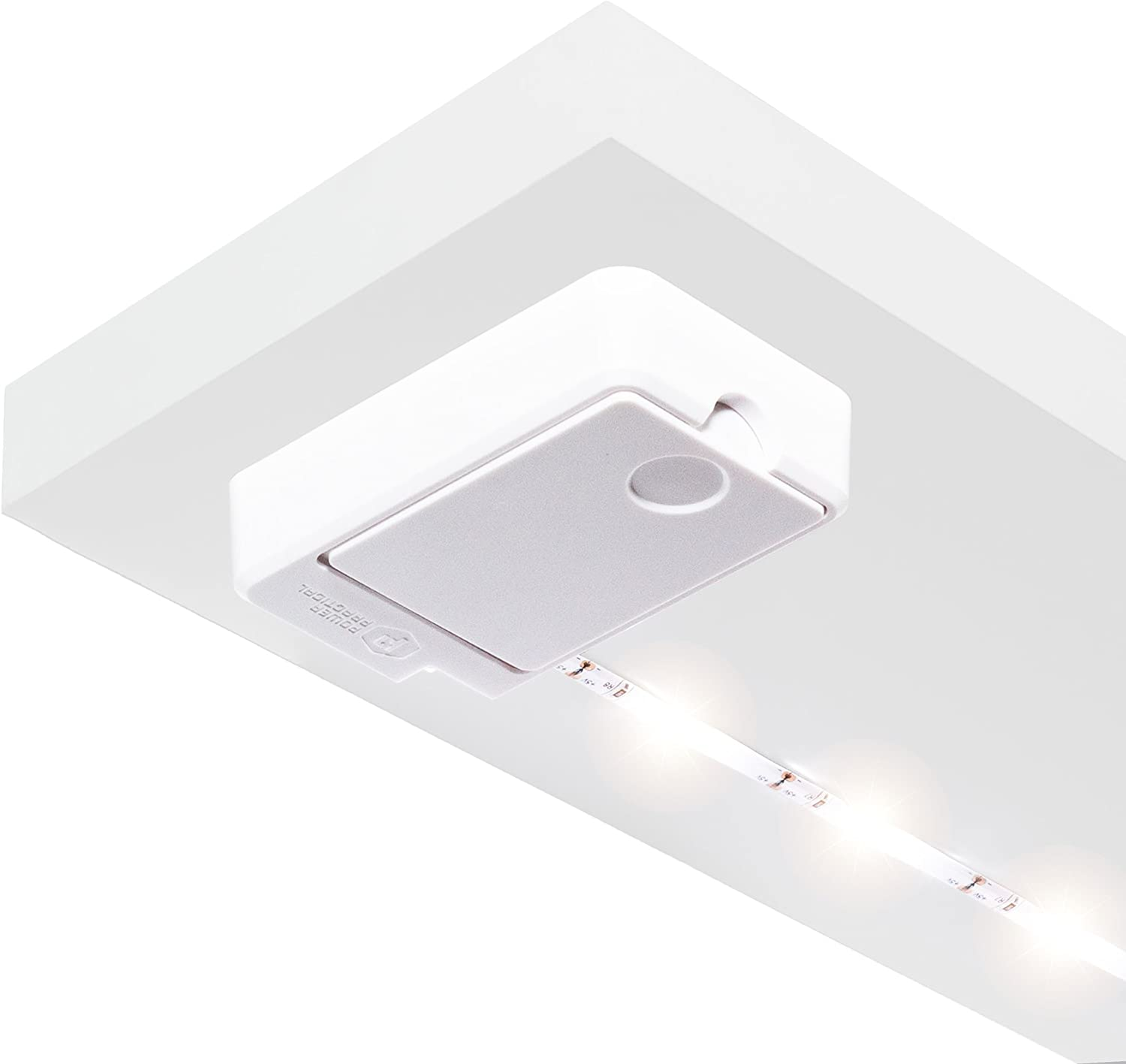 Luminoodle Click AA Battery Powered LED Push Lights -1-Pack - for Kitchen, Closet, Pantry, Shelf Lighting - 36in. Wireless Stick Anywhere Adhesive String Tap Lights - Warm White (2700K)