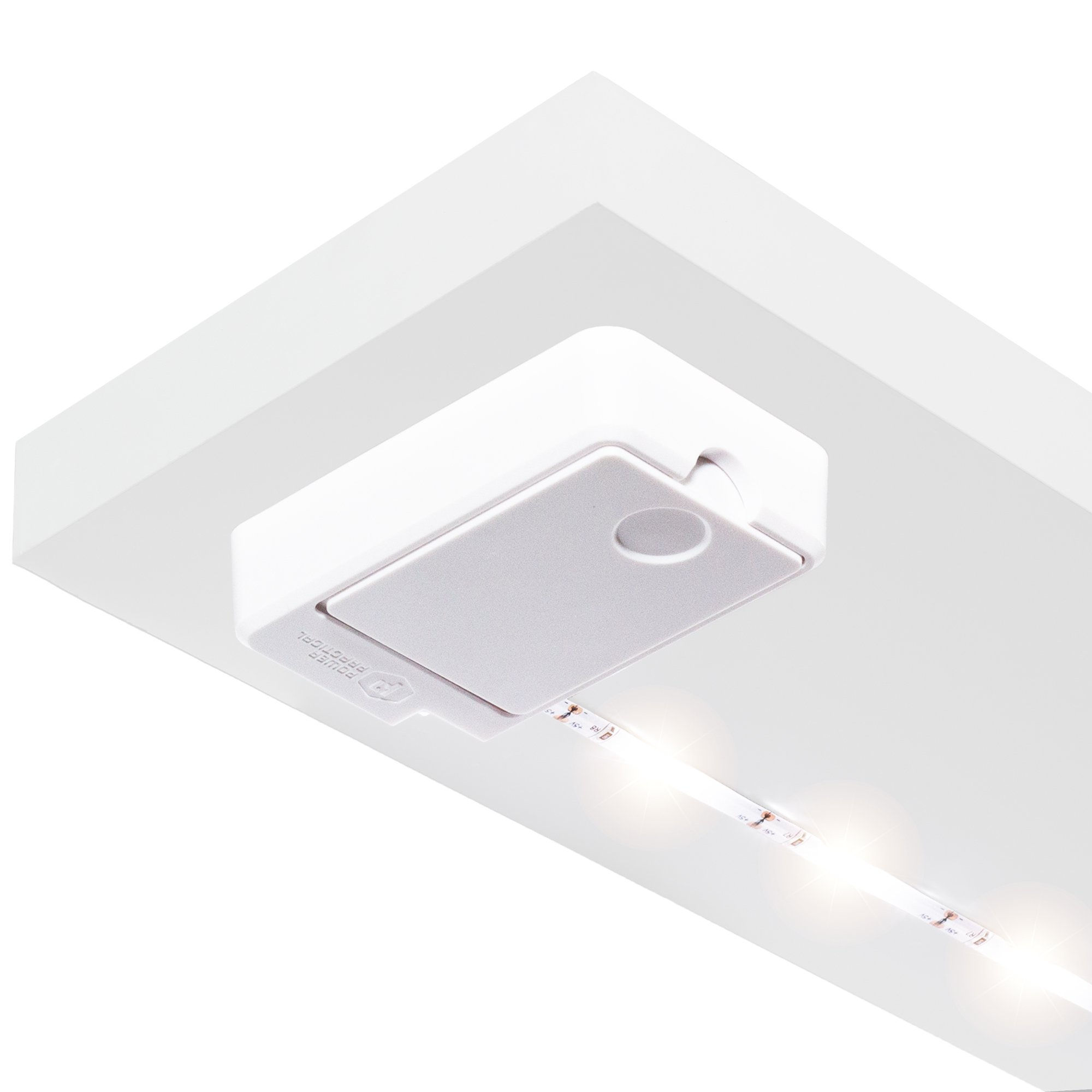Luminoodle Click Battery Powered LED Tap Light Strip for Closet, Pantry, Shelf Lighting | AA-Powered 36 in. Wireless Stick Anywhere Adhesive String Push Lights - Warm White (2700K)