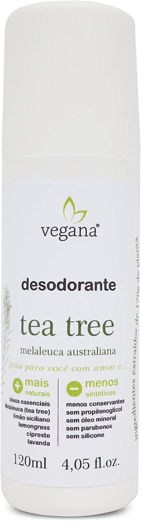 Vegana Desodorante Corporal Tea Tree 120ml, Vegana: Amazon.com.br: Beleza