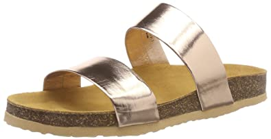 Bianco Damen Twin Strap Slip Slipper  40 EUGold (Bronze)
