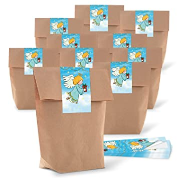 10 bolsas de papel pequeñas naturales marrón natural papel ...