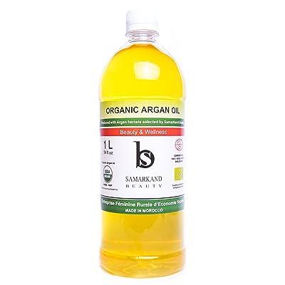1 Litro - Aceite de Argán BIO 100% Puro conCertificado Ecológico Ecocertprimera Presión en Fríopara Pelo & Piel - El Original de Marruecos