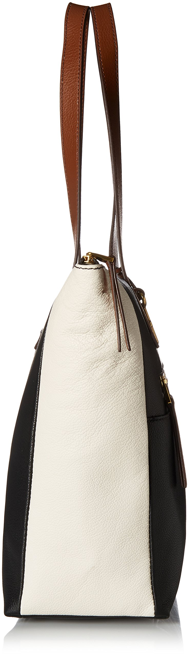 Fossil Fiona E/W Tote Bag, Black/White by Fossil (Image #3)