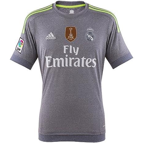 Adidas Real A JSY WC - Camiseta para Hombre, Color Gris/Lima, Talla