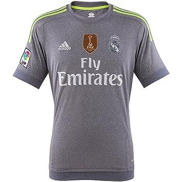 c1f024a8a 2º Equipación Real Madrid C.F 2015 2016 - Camiseta oficial adidas   Amazon.es  Zapatos y complementos