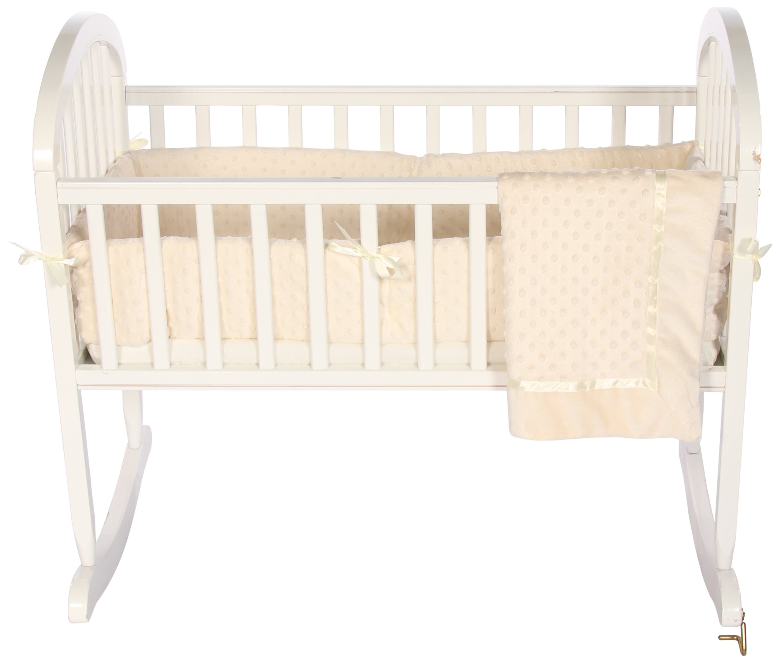 Baby Doll Bedding Heavenly Soft Cradle Set, Ivory by BabyDoll Bedding