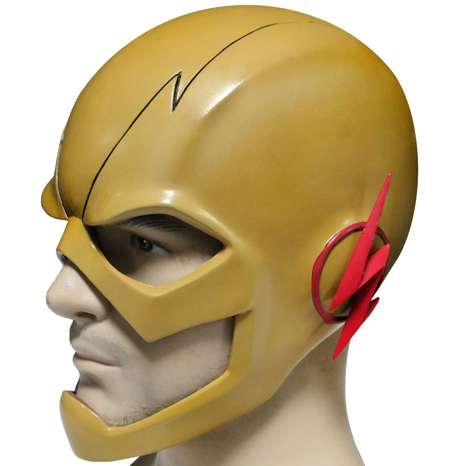 XCOSER Reverse Flash Mask Helmet Props for Adult Halloween Costume PVC Fancy Amazon.ca Clothing u0026 Accessories  sc 1 st  Amazon.ca & XCOSER Reverse Flash Mask Helmet Props for Adult Halloween Costume ...