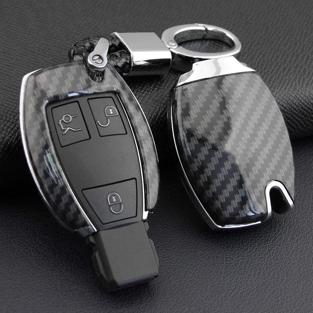 Accessori Portachiavi Per Auto Per Mercedes-Benz 2013-2018 Classe A ABS In Fibra Di Carbonio W176 Protezione Completa Cover Chiave Auto In Silicone Cover Per Chiave Auto Per Mercedes-Benz