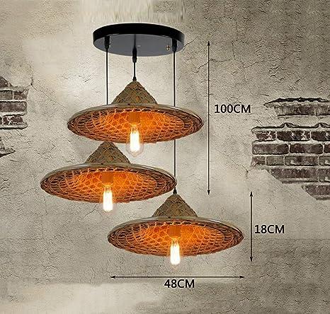 ZENGAI lámpara techo Sudeste asiático chino retro artesanal ...