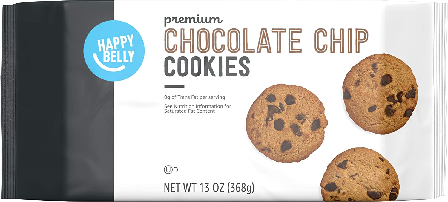 Amazon Brand - Happy Belly Premium Chocolate Chip Cookies, 13 Ounce