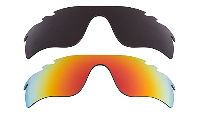 f2dea80e7061 Image Unavailable. Image not available for. Color  Vented Radarlock Path  Replacement Lenses Black   Yellow by SEEK fits OAKLEY