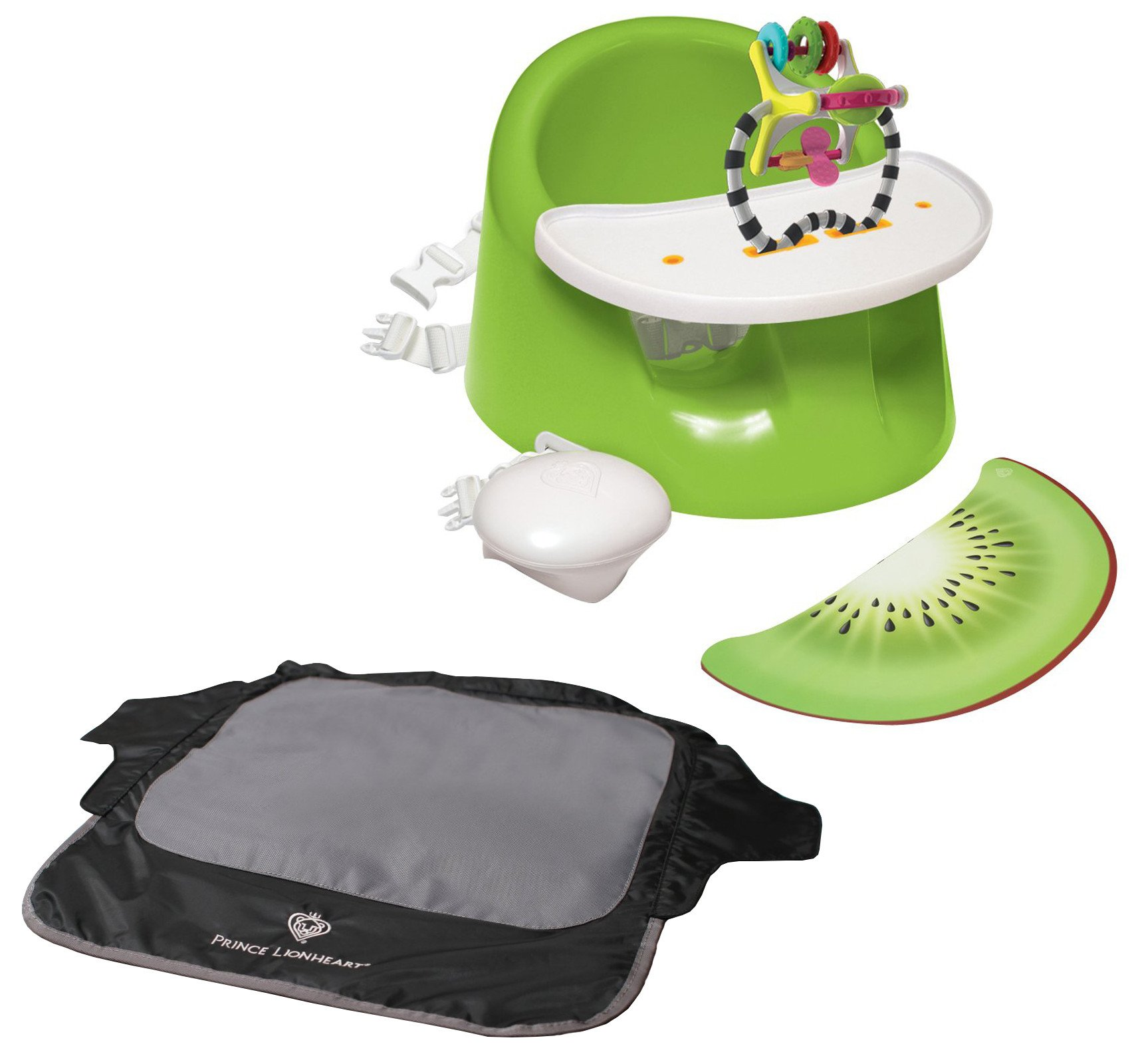 Prince Lionheart bebePOD Flex Plus Booster Seat with Seat Neat Chair Cover, Kiwi