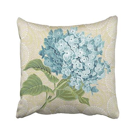 Green Haoke Encaje Hortensia Azul Floral Vintage Funda de ...