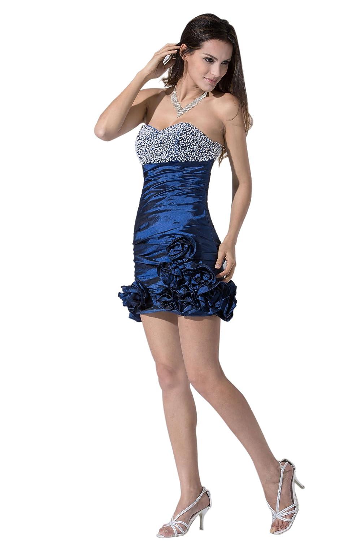 Kurz Mini Blau Abschlusskleid Blau Größe 46