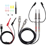 P6100 100MHz Oscilloscope Clip Probes with BNC to Minigrabber Test Lead Kit 10:1 and 1:1 Switchable with Accessories Kit…