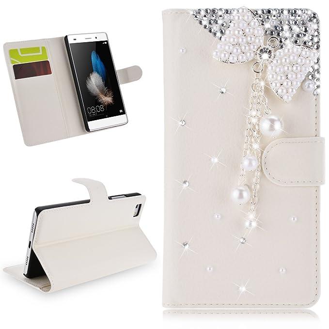 4 opinioni per Cover Huawei P8 Lite Libro, SMARTLEGEND Custodia Bling Diamond PU Leather Caso