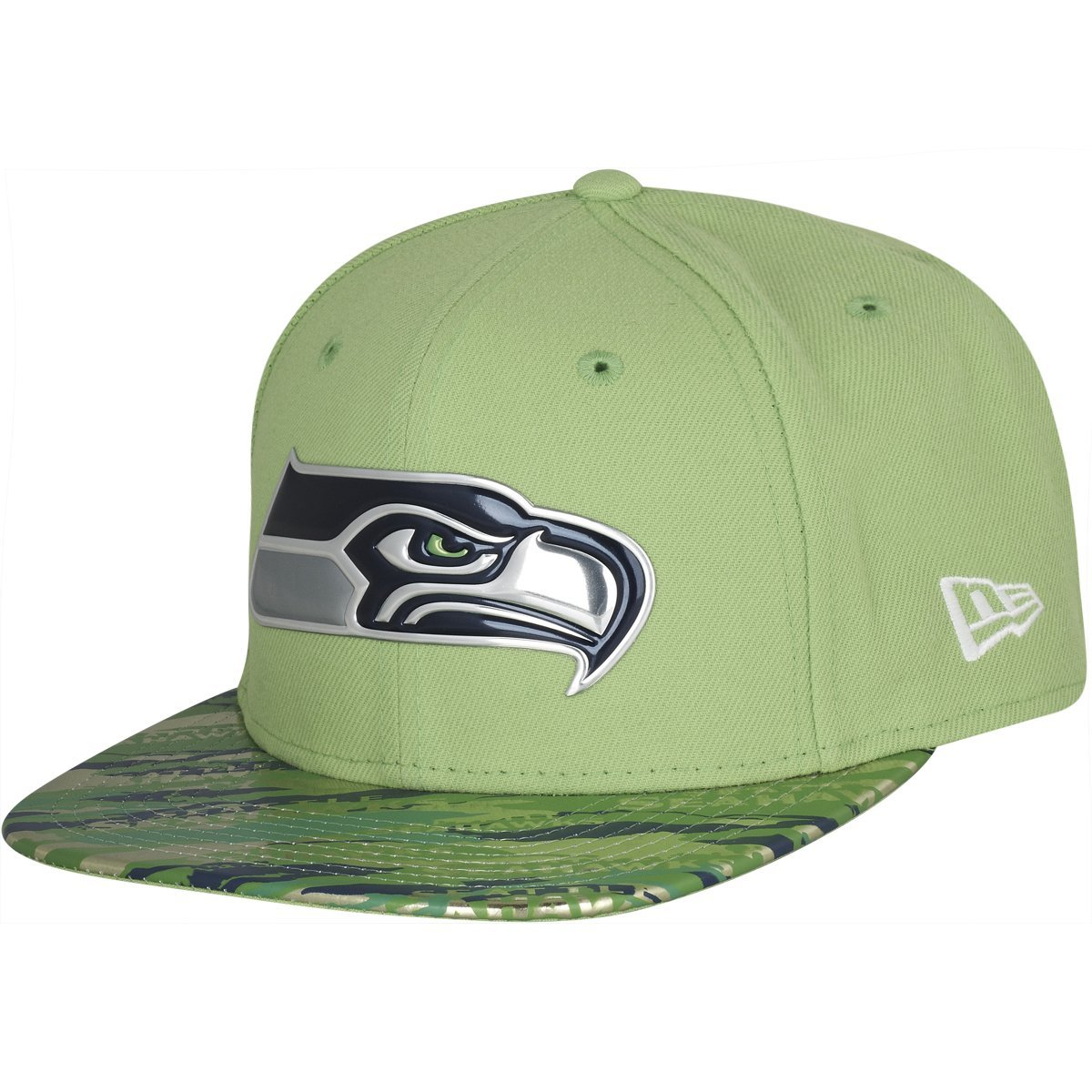 Amazon.com   New Era 9Fifty Hat Seattle Seahawks NFL 2016 On Field Color  Rush Green Snapback   Sports   Outdoors 5dced0d58