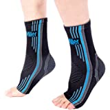 Doc Miller Premium Ankle Brace Compression Support Sleeve – for Plantar Fasciitis, Achilles Tendonitis, Injury Recovery Joint Pain, Swollen Feet Socks, Foot Tendon Ligament Spurs Fractures Sprains