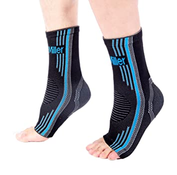fb32bc0f5b Premium Ankle Brace Compression Support Sleeve Socks for Swollen Foot  Plantar Fasciitis Achilles Tendonitis, Use
