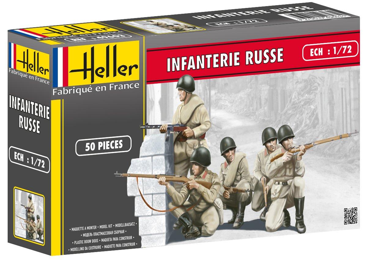Heller Russian Infantry Model Kit 1//72 Scale Set of 50