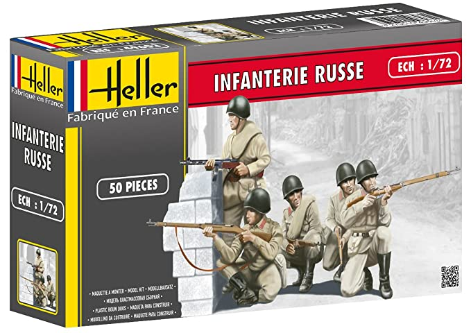 Heller Russian Infantry Model Kit (Set of 50) (1/72 Scale)
