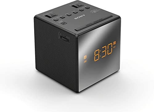 Sony ICFC1TBLACK Alarm Clock Radio, Black Renewed
