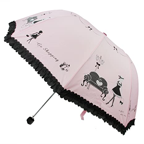 Fakeface Style coreano para mujer y niña, diseño de Piano Paraguas plegable Paraguas de golf