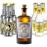 Monkey 47 Gin (1 x 0.5 l) mit Thomas Henry Tonic (3 x 0.2 l) und Fever Tree Tonic (3 x 0.2 l)